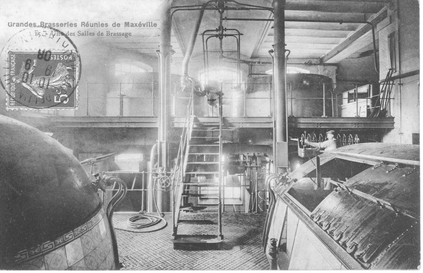 Salle de Brassage - Rue des Brasseries - Maxéville (54) - Brasseries - 1906