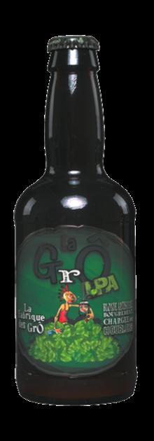Brasserie La Fabrique des GrÔ - bières artisanales - bouteille GrÔ IPA