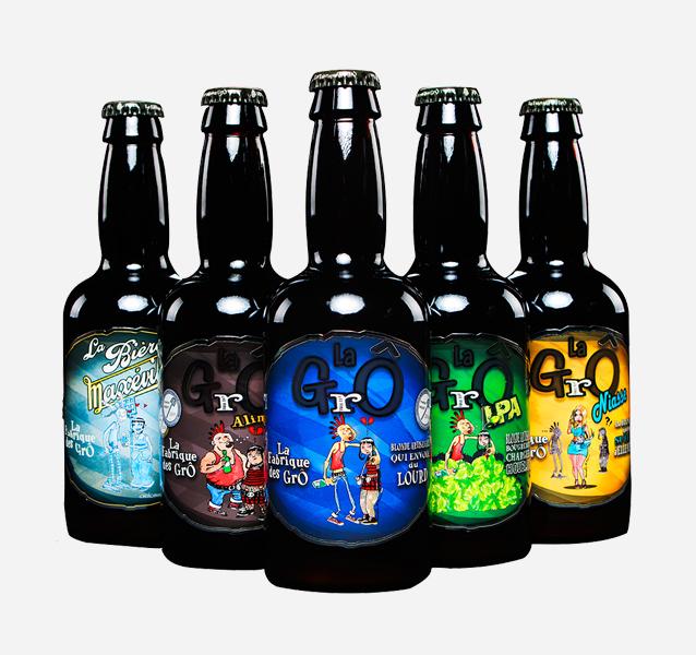 Brasserie La Fabrique des GrÔ - bières artisanales - Les 5 bouteilles