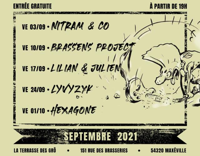 Les concerts gratuits de la fabrique des GrÔ - Septembre 2021